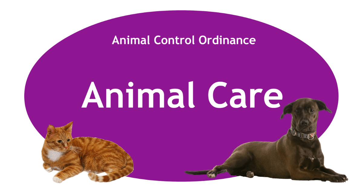 Animal Care Page Banner