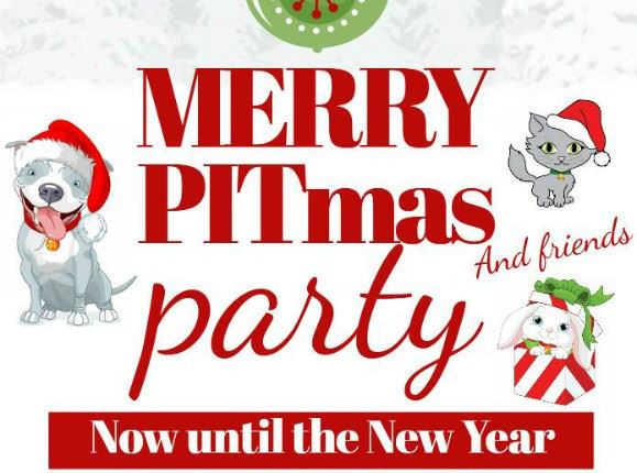 CLICK HERE for more information about the Merry PITmas & Friends Reduced Adoption Fee Program
